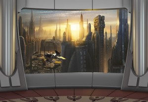 Fototapeta 8-483 STAR WARS CORUSCANT VIEW
