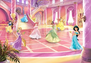 FOTOTAPETA 8-4107 Disney Princess Glitzerparty