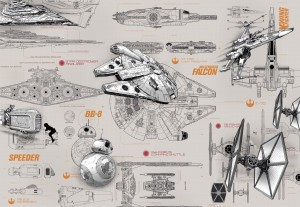 Fototapeta 8-493 STAR WARS BLUEPRINTS